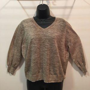 J. Crew linen cotton slub texture sweater Small